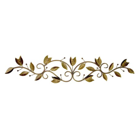 Three Hands 47 in. Metal Scroll Leaves Wall Accent ()