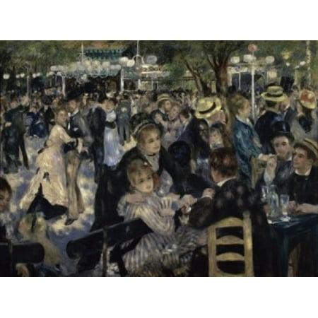 Ball at the Moulin de la Galette Montmartre 1876  Pierre-Auguste Renoir Musee dOrsay Paris Poster (Auguste Renoir Moulin De La Galette 1876)