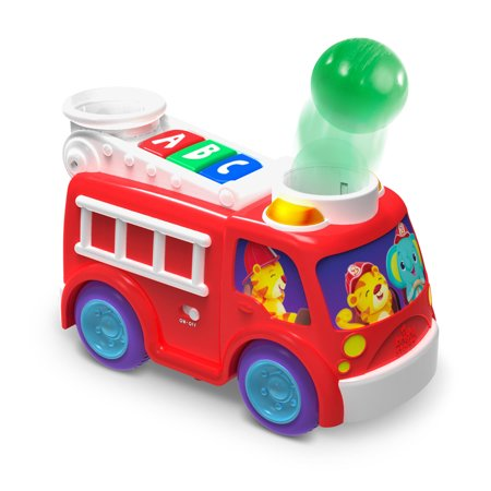 Bright Starts Roll & Pop Fire Truck Toy Ball Popper Musical Activity Toy](Ball Poppers)