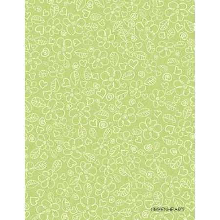 Greenheart : 50-Page Very Thin Journal for Writing, School or Taking Notes (8.5 X 11 Inches /