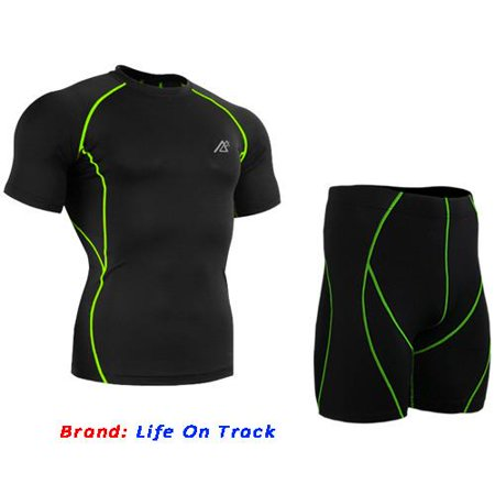 All-in-One Compression Base Layer T Shirt Men Tights