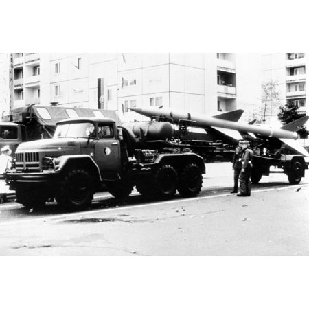 LAMINATED POSTER Left side view of an SA-2 Guideline surface-to-air (SAM) missile mounted on a Zil-131 transporter of Poster Print 24 x 36