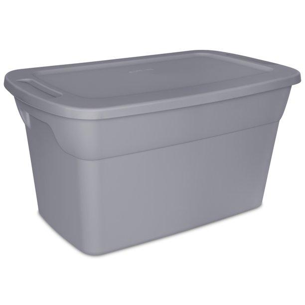 Sterilite 30 Gallon Tote Box Recycled Gray Walmart Com Walmart Com