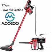 MOOSOO Lightweight Stick Vacuum Cleaner Corded 2 in 1 Handheld Vacuum, D600 - Red