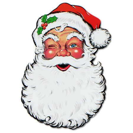 Beistle Display Santa Face Cutout 26