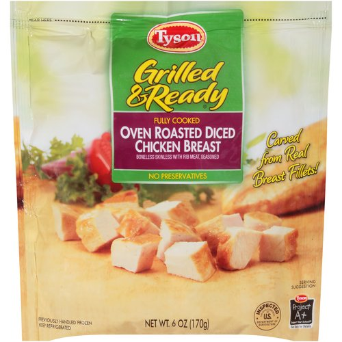 Tyson Grilled & Ready Oven Roasted Diced Chicken Breast, 6 oz