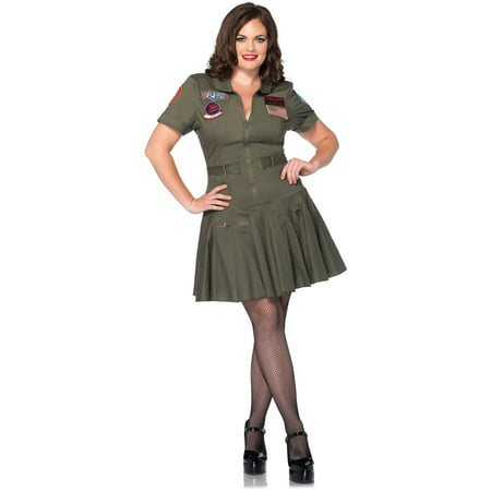 Top Gun Flight Dress Halloween Costume (Leg Avenue Plus Size Top Gun Flight Dress Adult Halloween)