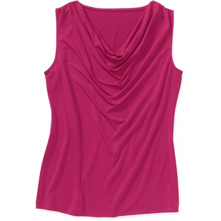 468c0c4e29073 George - George Easy Wear Collection Women s Plus-Size Cowlneck Sleeveless  Top - Walmart.com