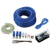 Audiopipe BGE4BB Amplifier Wiring Kit 4ga;bullzaudio;blue/gold Edition; Box
