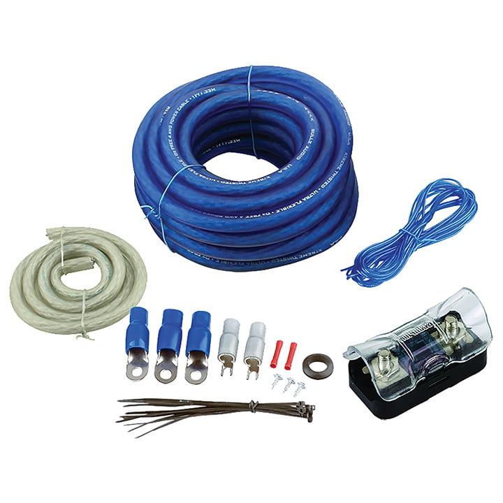 Audiopipe BGE4BB Amplifier Wiring Kit 4ga;bullzaudio;blue/gold Edition; Box