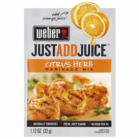 Weber Just Add Juice Citrus Herb Marinade Mix, 1.12 oz, (Pack of 12) (Cyrus Spice)