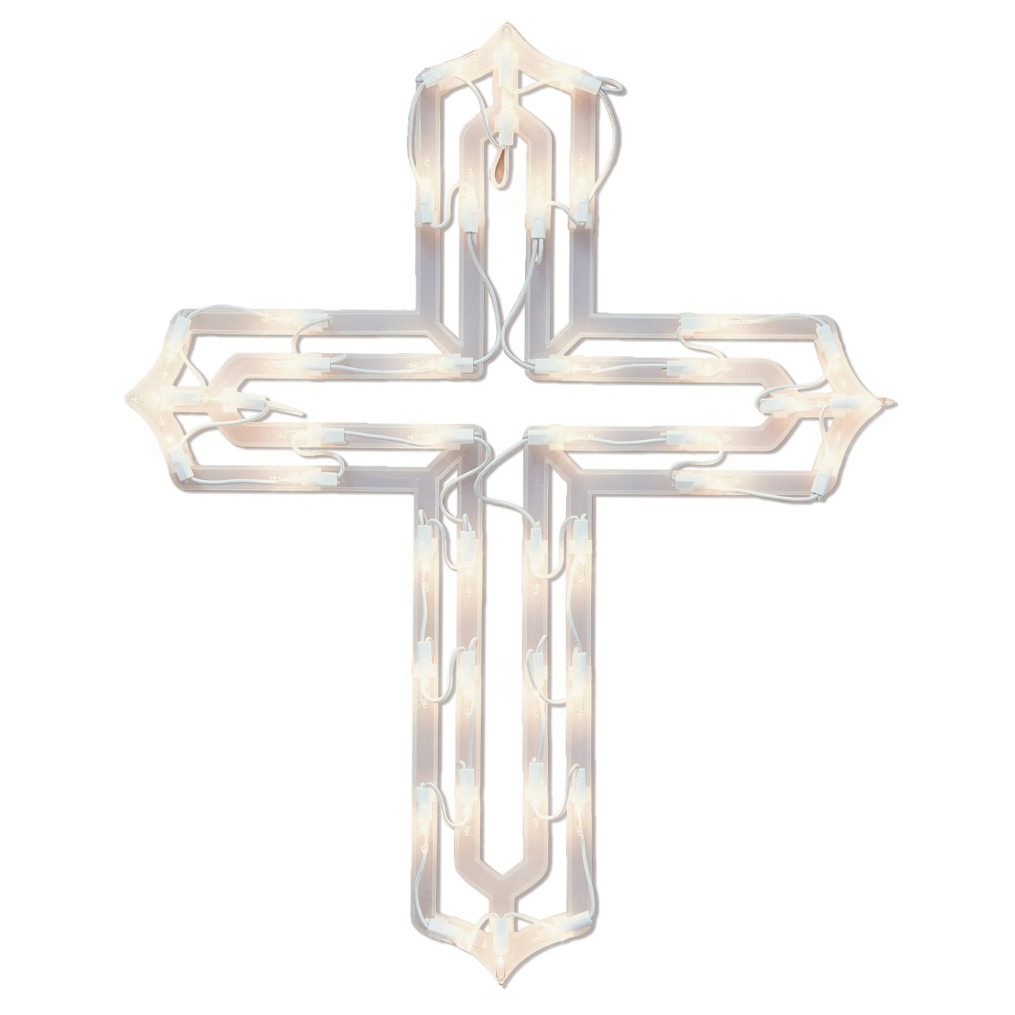 Generic Holiday Time Christmas Decor Light Up Cross