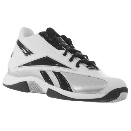 6ee2a5f28ac671 Reebok - REEBOK MEN S NFL THORPE MID TURF FOOTBALL SHOES WHITE BLACK 9.5 M  - Walmart.com