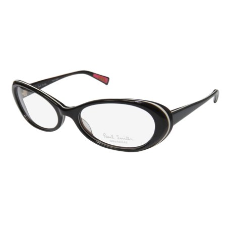 New Paul Smith Ps-415 Womens/Ladies Cat Eye Full-Rim Dark Brown / Ivory High Quality Cat Eyes Sleek Frame Demo Lenses 51-17-136 Eyeglasses/Eye Glasses - Cat Eye Glasses Frames