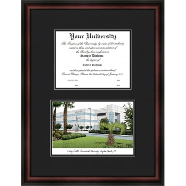 Campus Images FL995D Embry-Riddle University Diplomate Framed - Satin Mahogany