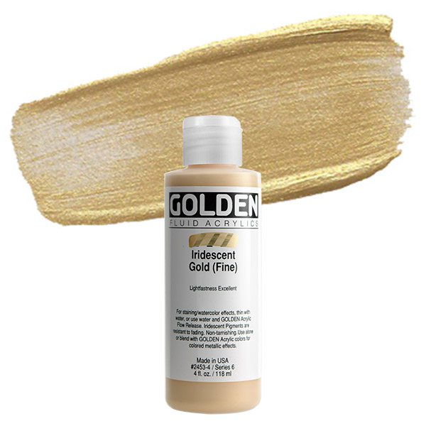 Golden® Iridescent Fluid Acrylic, 4 oz., Iridescent Bronze