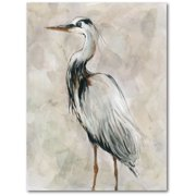 "Courtside Market Silver and gray crane II 16""x20"" Gallery-Wrapped Canvas Wall Art"