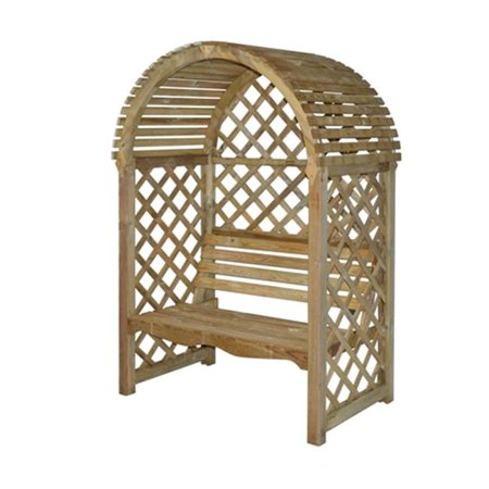 Strange Rowlinson Victoria Lattice Wood Arbor With Seat Natural Finish Ocoug Best Dining Table And Chair Ideas Images Ocougorg