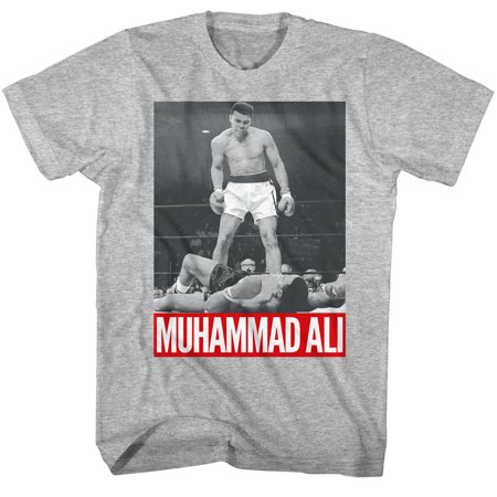 - Muhammad Ali Boxing Legend The Greatest Of All Time Adult T-Shirt Tee Knockout