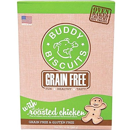 Cloud Star Grain Free Oven Baked Buddy Biscuits Dog Treats, Rotisserie Chicken, Multi-Colored
