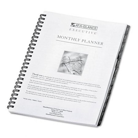 At-A-Glance 7091410 Executive Monthly Planner Refill 6-7/8