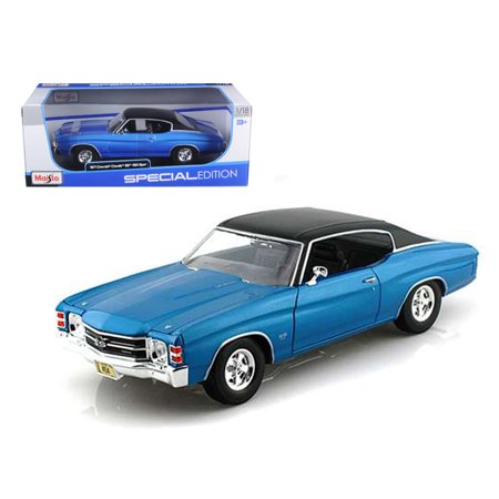- 1971 Chevrolet Chevelle SS 454 Blue 1/18 Diecast Model Car by Maisto