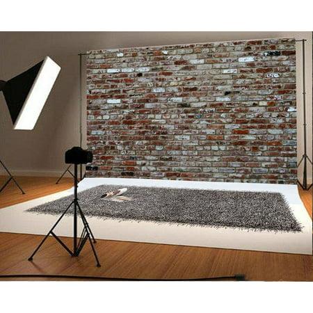 HelloDecor Polyster 7x5ft Photography Background Brick Walls Theme Photo Backdrops Portraits Shooting Video Photo Studio Props TV/Film Production Backdrops (Film Studio Lights)