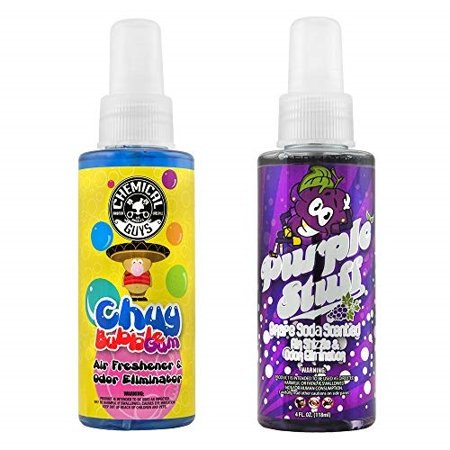 Chemical Guys AIR_303_04 Bubble Gum and Grape Soda Scent Sample Kit (4 oz) (2 Items) Bubble Gum Soda