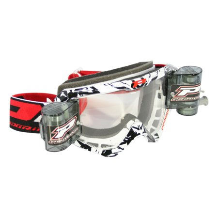 Pro Grip 3450 MX Goggles w/Mounted Roll Off System Black