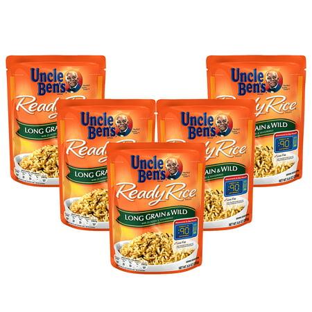(5 Pack) UNCLE BEN'S Ready Rice: Long Grain & Wild, 8.8oz ()