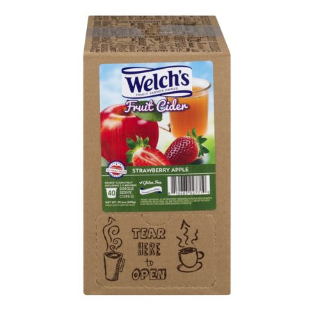 - Welch's , Strawberry Apple Cider, 40 Count Kcups