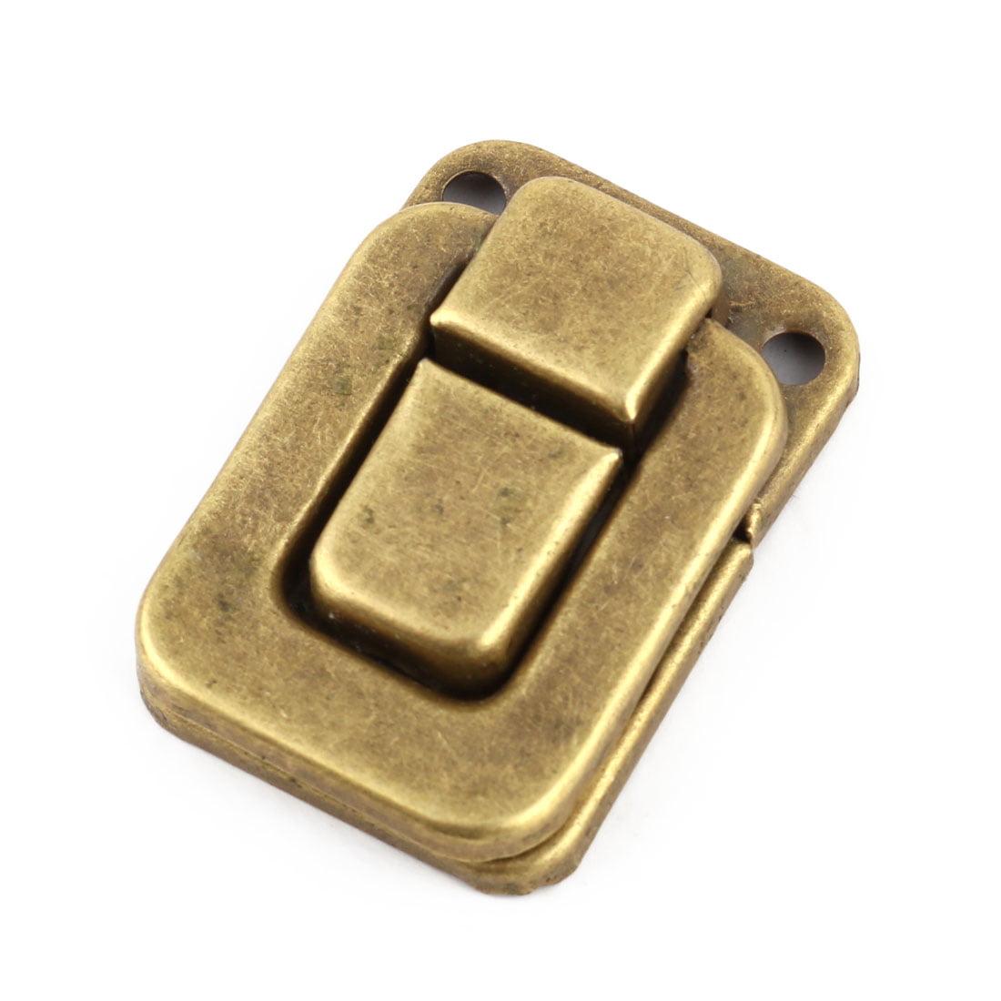 Household Metal Suitcase Lock Hook Hinge Toggle Box Latch Hasp Brass Tone 5 Pcs - image 3 of 4