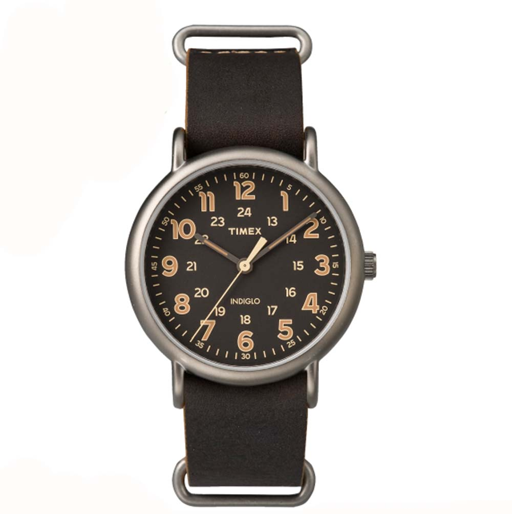 Timex Weekender Oversized 40mm Brown Leather Quartz Analog Watch