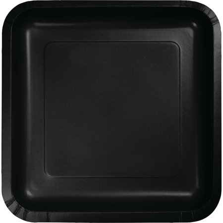 7 inch Square Paper Luncheon Plates Black Velvet,Pack of 18 EA Maroon Luncheon Plate