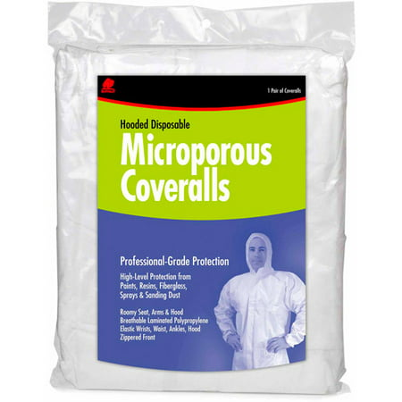 Buffalo Industries Microporous Disposable Coverall With Hood ()