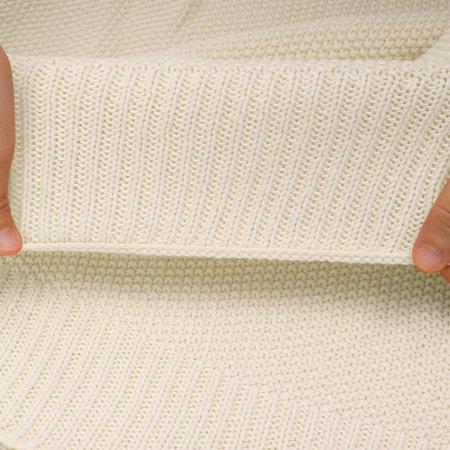 """knit blanket full size beige 70"""" x 78"""" - image 2 de 8"""