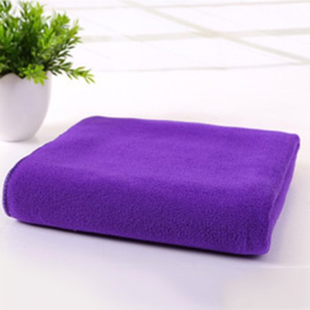 Solid Color Ultra Microfiber Fabric Fast Drying Gym Sports Towel Travel Camp Long Towel 70 x 30cm