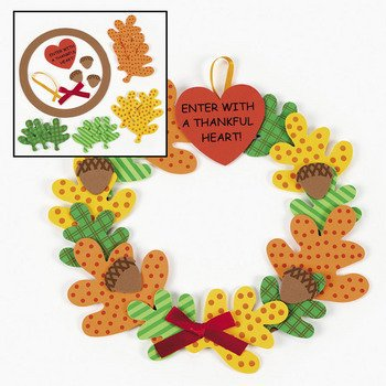 Enter With A Thankful Heart!4/5258 Wreath Craft Kit - Religious Crafts & Crafts for