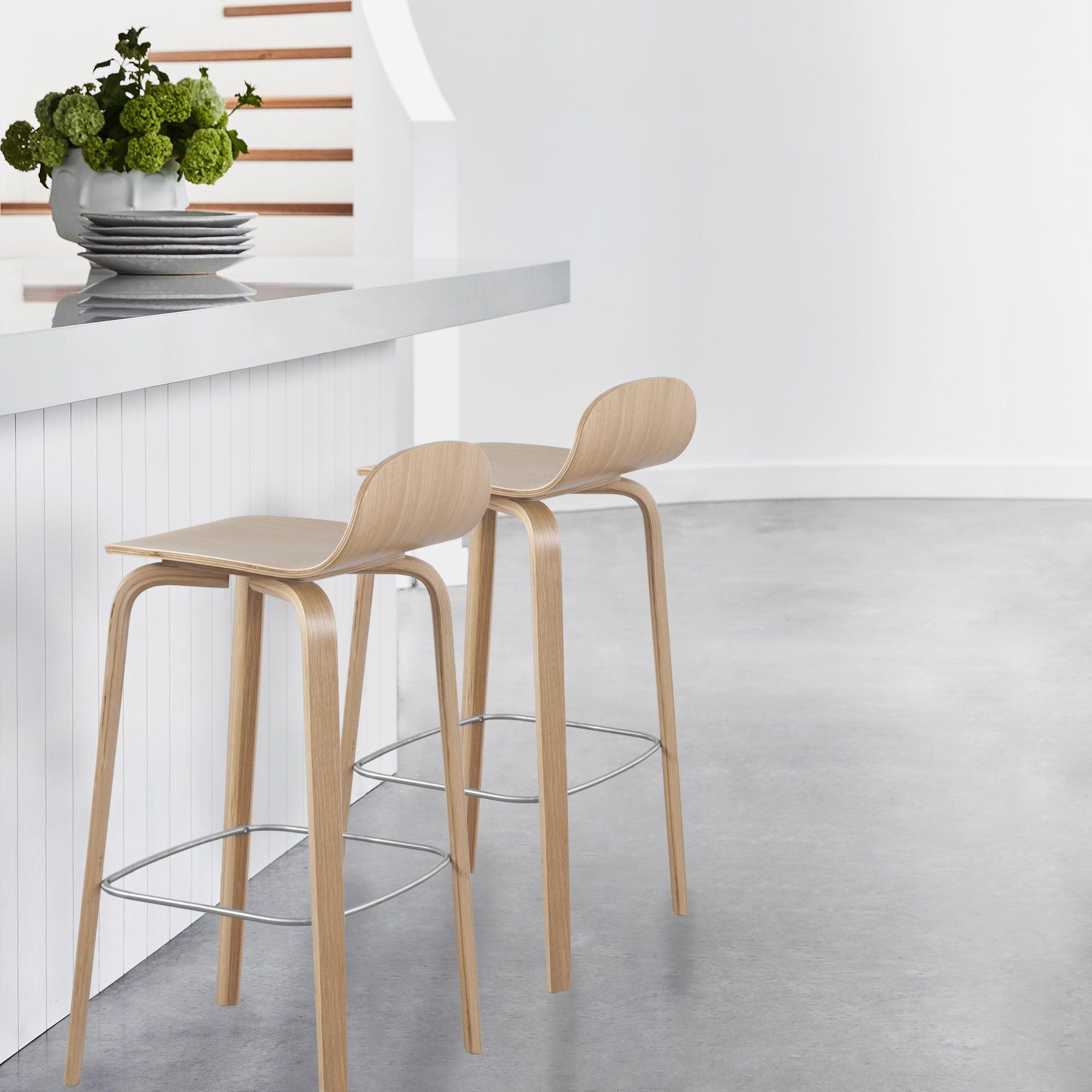 Image of: Glen Contract Grade Modern Wooden Bar Stool 27 Inch Seat Walmart Canada