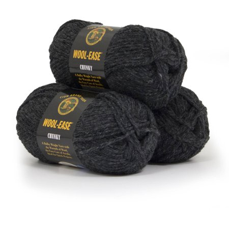 Lion Brand Yarn Wool Ease Chunky 3 Pack Wool Acrylic Blend Classic Yarn
