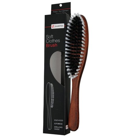 Solid Wood Garment Clothes Brush With Soft Bristles And