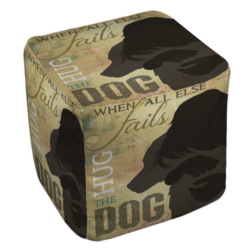 Manual Woodworkers & Weavers Hug the Dog Pouf