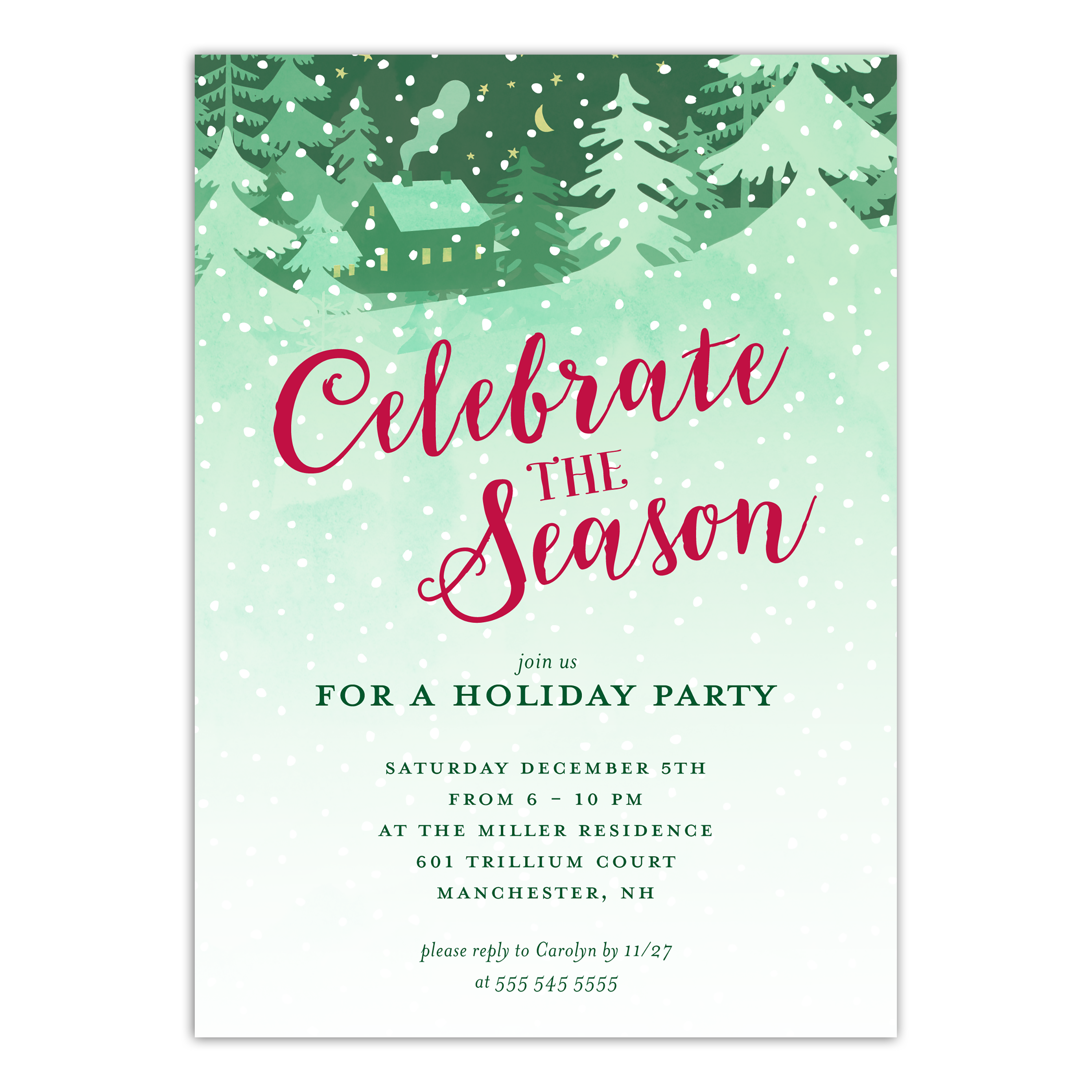 Personalized Holiday Invitation - Winter Warmth