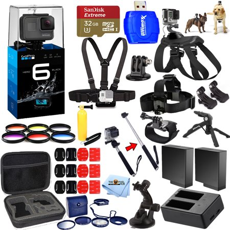 gopro hero6 black all in 1 mega accessory kit bundle for. Black Bedroom Furniture Sets. Home Design Ideas
