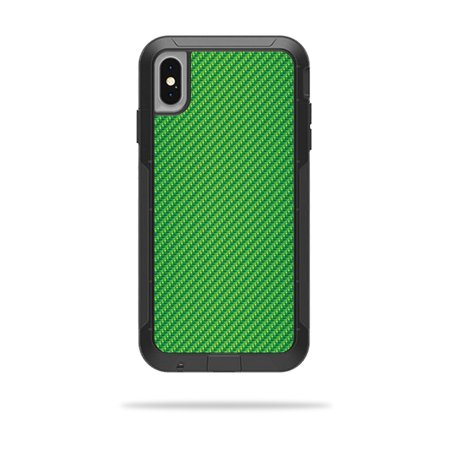 Skin for OtterBox Pursuit iPhone XS Max Case - Lime Carbon Fiber | Protective, Durable, and Unique Vinyl Decal wrap cover | Easy To Apply, Remove, and Change Styles