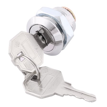 Household Metal Drawer Cabinet Wardrobe Security Cam Lock Key Silver Tone - image 1 de 3