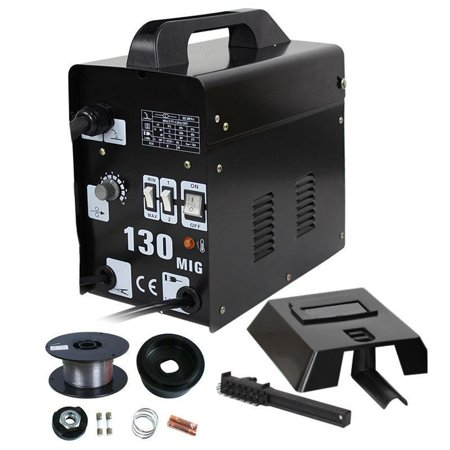 Ktaxon MIG 130 Electric Welding Machine Welder Tool Gas Less Flux Core Wire Automatic Feed with (Miller Big 40 Gas Welder For Sale)