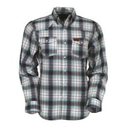 Outback Trading Shirt Mens L/S Murphy Performance Plaid Blue 42635