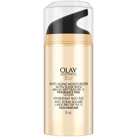 Olay Total Effects Anti Aging Face Moisturizer With Spf 15 Fragrance Free  Trial Size 0 5 Fl Oz