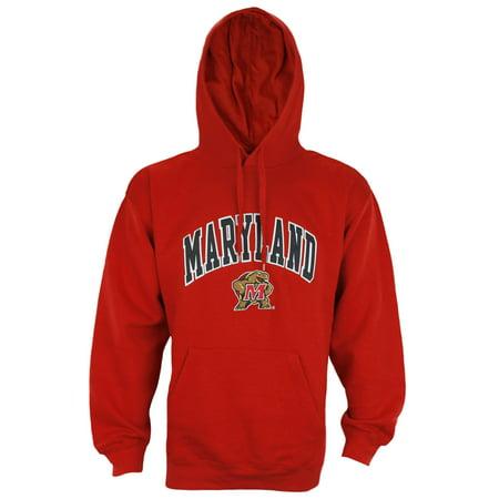 Ncaa Mens Hoodie - Genuine Stuff NCAA Men's University of Maryland Terrapins Fleece Hoodie - Red